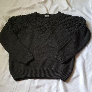 Joseph A peak a boo dark gray sweater XL